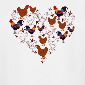 Chicken Love Heart Shirt - Men's Tall T-Shirt
