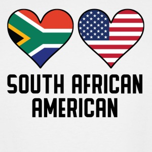 South African American Heart Flags - Men's Tall T-Shirt
