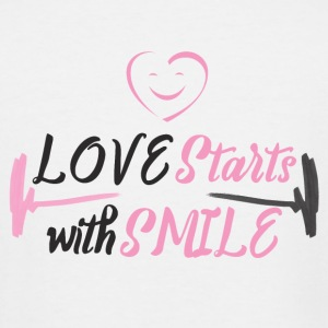 LOVE starts with a SMILE - Men's Tall T-Shirt