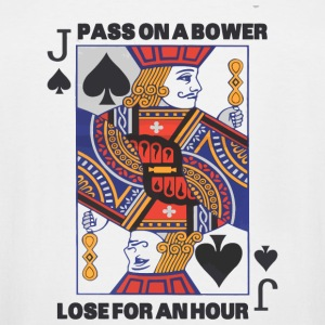 Euchre - Euchre - Pass On A Bower - Lose For An - Men's Tall T-Shirt