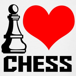 Chess - i heart chess - Men's Tall T-Shirt