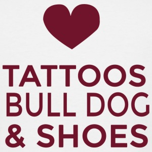 Bull dog - tattoos bull dog and shoes - Men's Tall T-Shirt