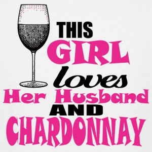Chardonnay - this girl loves her husband and cha - Men's Tall T-Shirt
