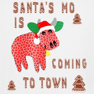 Santa mo Is coming to town, funny santa cow cookie - Men's Tall T-Shirt