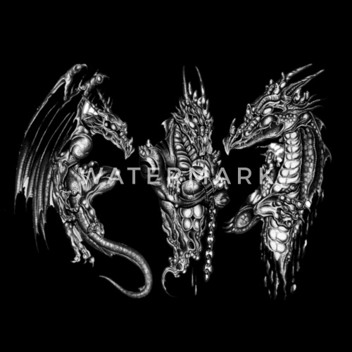 3D Dragon Tattoo Design PNG For Designing By Spreadshirt