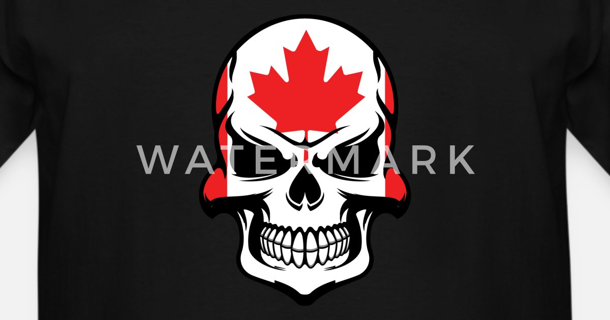 f9ac244feef Canadian Flag Skull Cool Canada Skull by Awesome Shirts