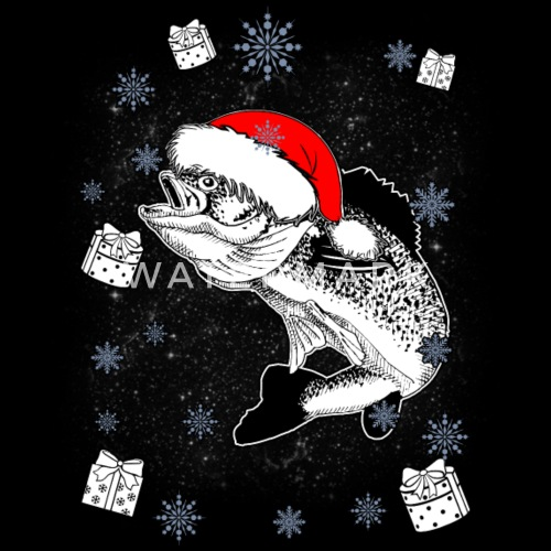 Fish Fisherman Fishing Fish Santa Christmas Gift by | Spreadshirt