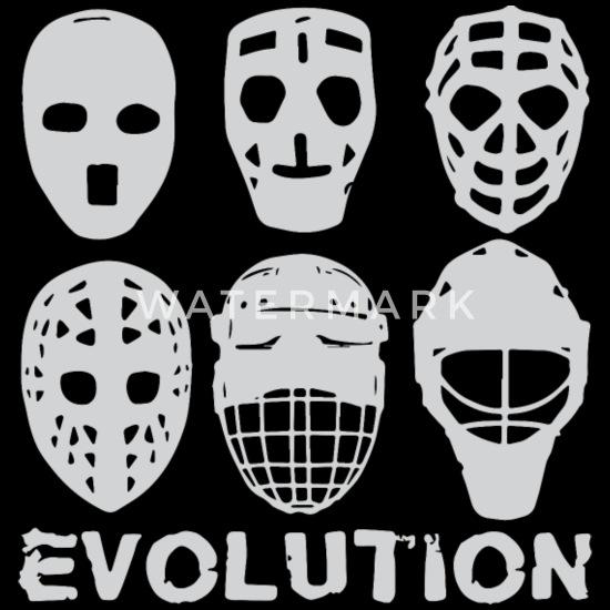 Hockey Goalie Mask Evolution Men S Tall T Shirt Spreadshirt