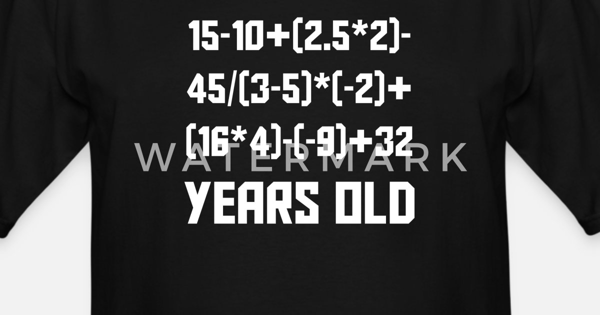 c39c88de 70 Years Old Algebra Equation 70th Birthday by Awesome Shirts | Spreadshirt