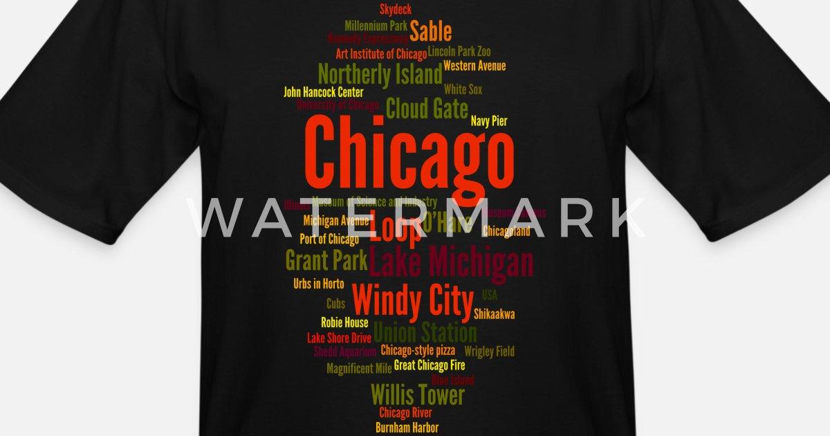 4cbcf37fe Chicago (Windy City; Illinois, USA) Men's Tall T-Shirt   Spreadshirt