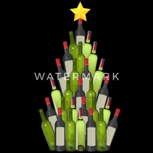 Wine Christmas Tree Shirt.Wine Christmas Tree Shirt Men S Tall T Shirt Black