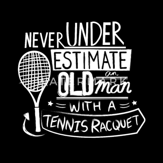 Funny Tennis Player Gift Idea | Tennis Quotes Men\'s Tall T-Shirt - black