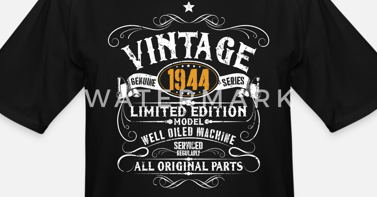 SUPER SALE Vintage 1945 Aged To Perfection Funny Men/'s T-shirt