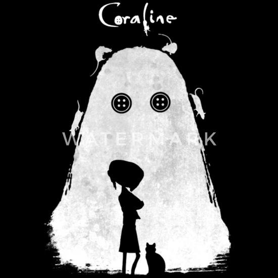 T - shirt for Coraline movie lover Men's Tall T-Shirt - black