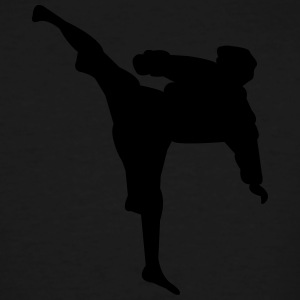 Karate fighter silhouette 4 - Men's Tall T-Shirt