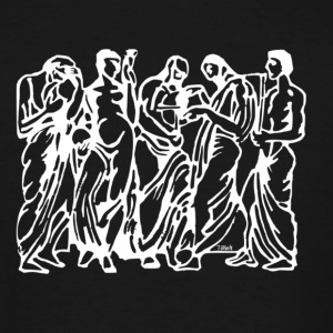 Greek - Reverse Image - Men's Tall T-Shirt
