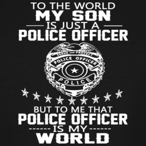 MY SON IS POLICE OFFICER - Men's Tall T-Shirt