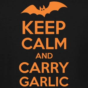 Keep Calm And Carry Garlic Halloween - Men's Tall T-Shirt