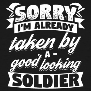 Funny Soldier Army Shirt Already Taken - Men's Tall T-Shirt