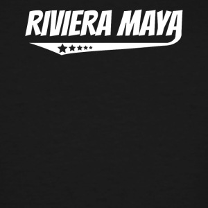 Riviera Maya Retro Comic Book Style Logo - Men's Tall T-Shirt
