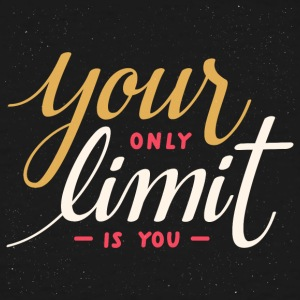 Your only limit is you motivational quote - Men's Tall T-Shirt