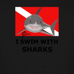 I Swim With Sharks! - Men's Tall T-Shirt