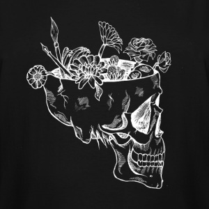 Flower Skull - Men's Tall T-Shirt