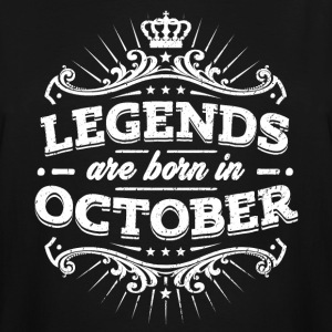 Legends Are Born In October Birthday Shirt - Men's Tall T-Shirt