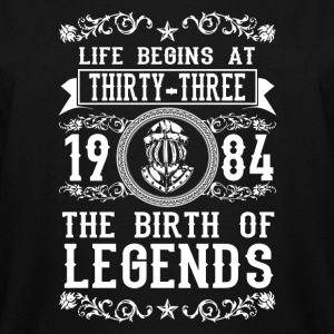 1984 - 33 years - Legends - 2017 - Men's Tall T-Shirt