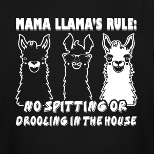 MAMA LLAMAS RULES SHIRT - Men's Tall T-Shirt