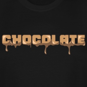 Chocolate Horizontal Font - Men's Tall T-Shirt