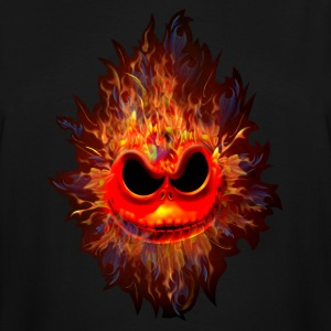 Skull Head on Fire - Men's Tall T-Shirt