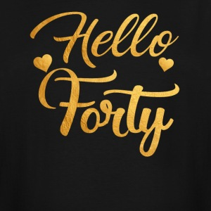 Hello Forty Five 40th Birthday Shirt - Men's Tall T-Shirt