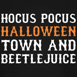 Hocus Pocus Halloween Town And Beetlejuice - Men's Tall T-Shirt