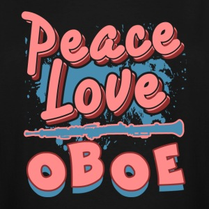 PEACE LOVE OBOE SHIRT - Men's Tall T-Shirt