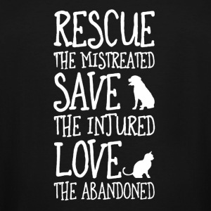 rescued the mistreated save the injured - Men's Tall T-Shirt