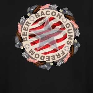 Beer Bacon Guns Freedom - Men's Tall T-Shirt