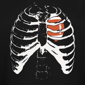 Football Heart In Ribcage Shirt - Men's Tall T-Shirt