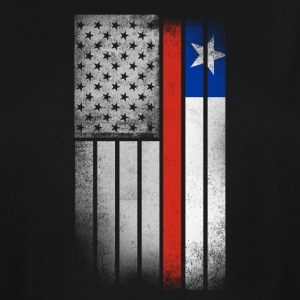 Chilean American Flag - Men's Tall T-Shirt