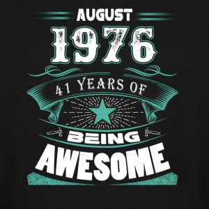August 1976 - 41 years of being awesome - Men's Tall T-Shirt