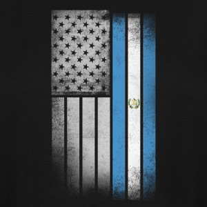 Guatemalan American Flag - Men's Tall T-Shirt