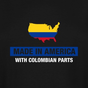 Made In America With Colombian Parts Colombia Flag - Men's Tall T-Shirt