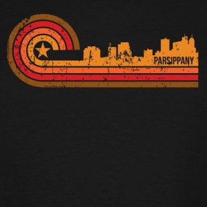 Retro Style Parsippany New Jersey Skyline - Men's Tall T-Shirt