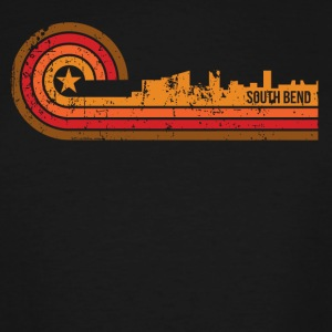 Retro Style South Bend Indiana Skyline Distressed - Men's Tall T-Shirt