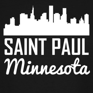 Saint Paul Minnesota Skyline - Men's Tall T-Shirt
