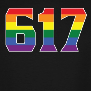 Gay Pride 617 Boston Area Code - Men's Tall T-Shirt