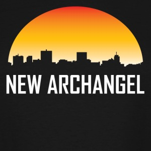 New Archangel Alaska Sunset Skyline - T-shirt grande taille homme