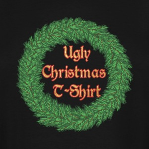 The Ugly Christmas T-Shirt Wreath - Men's Tall T-Shirt