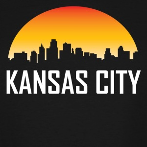 Kansas City Kansas Sunset Skyline - Men's Tall T-Shirt