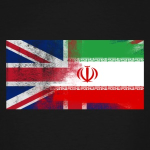 British Iranian Half Iran Half UK Flag - Men's Tall T-Shirt